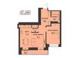 АКАДЕМИЯ, 1 корпус: 2-комнатная 50,62 кв.м