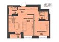 АКАДЕМИЯ, 1 корпус: 2-комнатная 55,22 кв.м