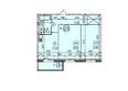 ИЗУМРУДНЫЙ ж/к: Планировка двухкомнатной квартиры 62,19 кв.м