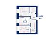 Жилой комплекс SCANDIS (Скандис), дом 11: Планировка двухкомнатной квартиры 52,6 кв.м