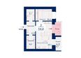 SCANDIS (Скандис), дом 3: Планировка двухкомнатной квартиры 59 кв.м