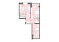 Жилой комплекс Да Винчи, дом 6: 3-комнатная 81,55 кв.м