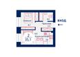 SCANDIS (Скандис), дом 8: Планировка двухкомнатной квартиры 35,1 кв.м