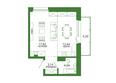 Life (Лайф), дом 2, б/с 3: 1-комнатная 41,74 кв.м