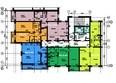 Жилой комплекс ВРЕМЕНА ГОДА, дом 13: Планировка типового этажа, 4 б/с
