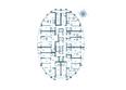 Жилой комплекс ФЛОТИЛИЯ: Планировка 3-24 этажей дома «Адмирал Нахимов»