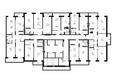 Жилой комплекс VIVANOVA (Виванова): Подъезд 2. Планировка типового этажа