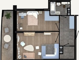 2-комнатная квартира, 49  м², 15/24 этаж