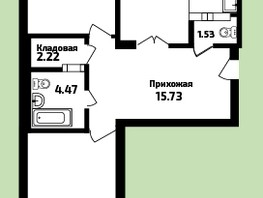 3-комнатная квартира, 90.87  м², 5/16 этаж
