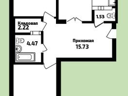 3-комнатная квартира, 90.87  м², 4/16 этаж