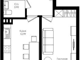 Продается 1-комнатная квартира ЛОМОНОСОВ, 39.6  м², 4900025 рублей