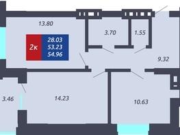 Продается 2-комнатная квартира ЧКАЛОВ, дом 1, 53.23  м², 4700049 рублей