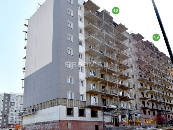 Ход строительства 31 августа 2019