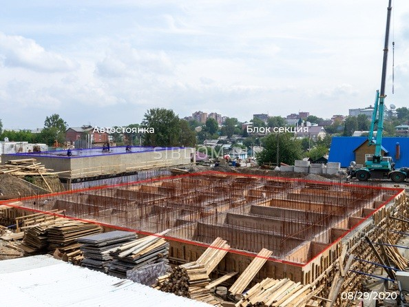 Ход строительства 29 августа 2020