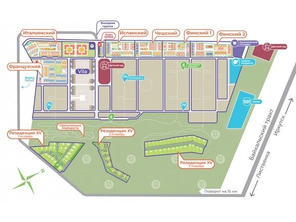 Общий план микрорайона Хрустальный парк