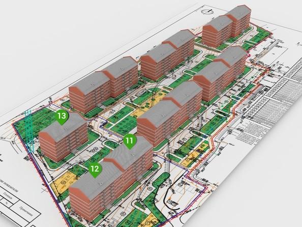 Расположение домов 3 очереди строительства ЖК «Сокол» 1 этап