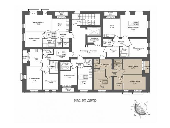 Планировки Жилой комплекс ОНЕГА, дом 2 - 2-комнатная 53,7 кв.м