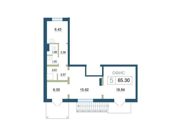 Планировка  65,3 м²