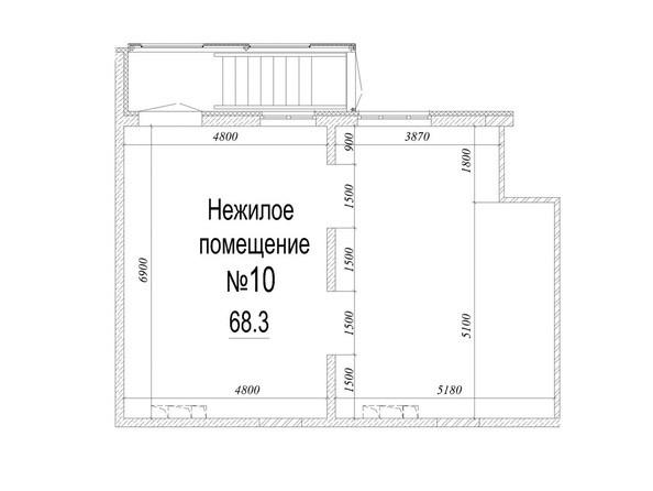 Планировка  68,3 м²