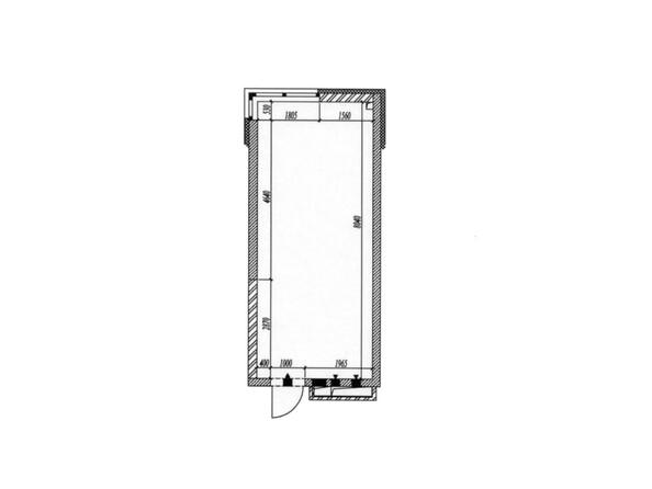 Планировка 1-комн 26,6 - 27 м²
