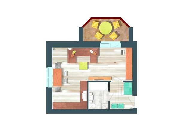 Планировки Жилой комплекс ЖИВЁМ эко-район, 10 квартал, дом 1 - Планировка однокомнатной квартиры 39,8 кв.м