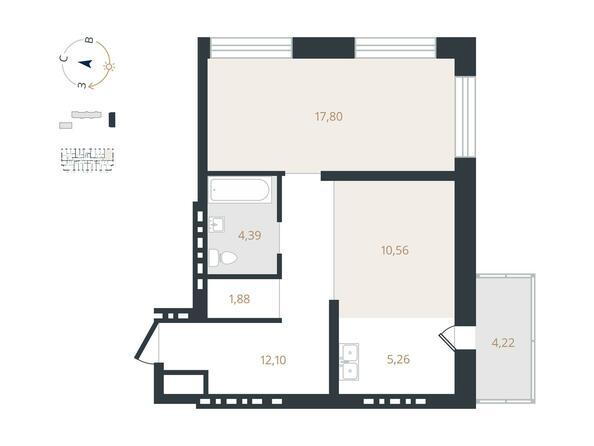 2-комнатная 51,99 кв.м