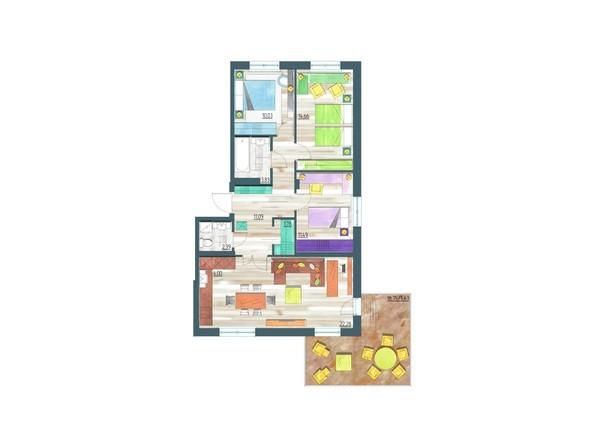 Планировки Жилой комплекс ЖИВЁМ эко-район, 10 квартал, дом 1 - Планировка четырехкомнатной квартиры 89,18 кв.м