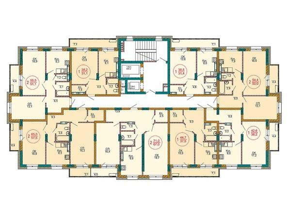 Планировки Жилой комплекс НОВЫЕ ЧЕРЁМУШКИ - Планировка 5 этажа