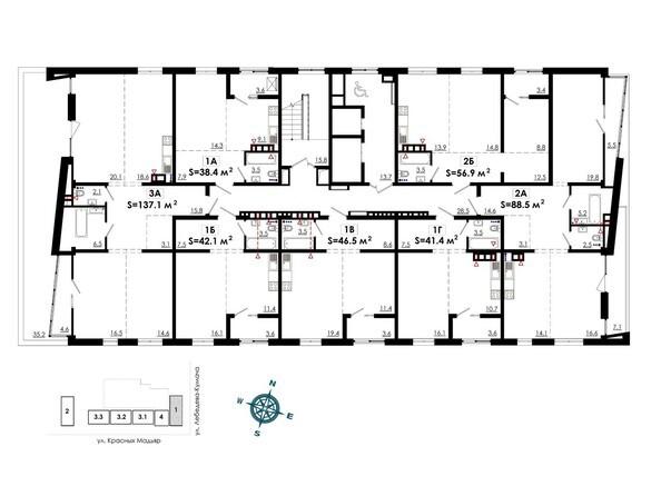 Планировки Жилой комплекс СИТИ ПАРК, б/с 1 - Планировка 2 этажа