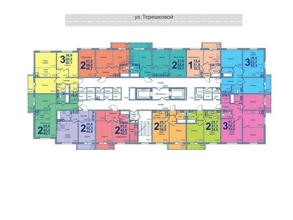 Планировки Жилой комплекс МОСКОВСКИЙ ПРОСПЕКТ, дом 16 - Планировка типового этажа