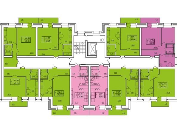 Планировки Жилой комплекс СНЕГИРИ, дом 3 - 3 секция 2-8 этаж