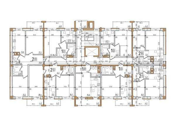 Планировка типового этажа
