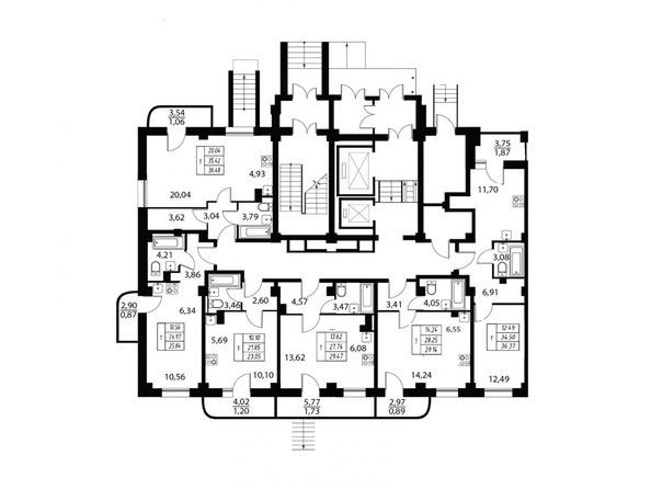 Планировка 1 этажа 2 подъезд