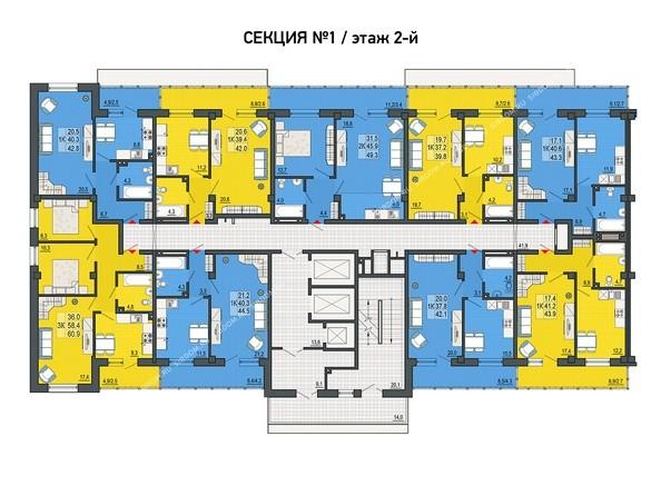 2 этаж, 1 секция