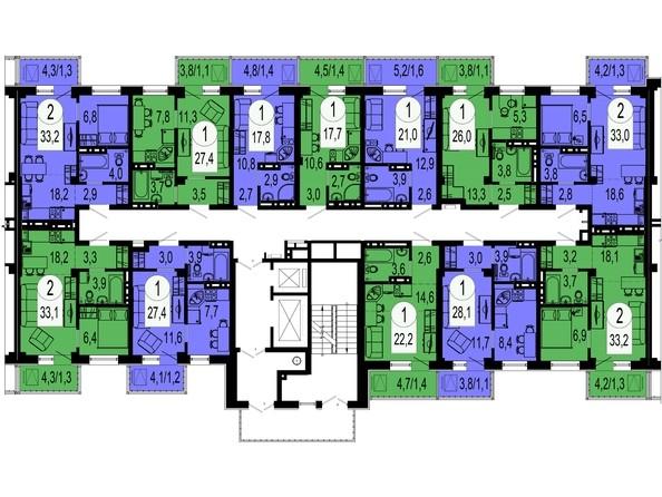 Секция 3. Типовая планировка этажа.