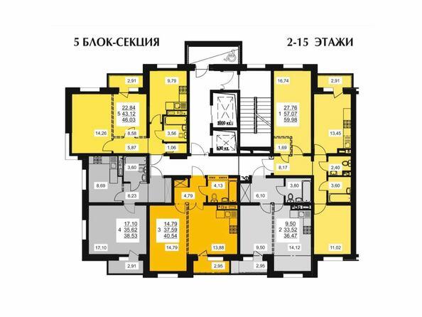 Типовой этаж 5 блок-секции