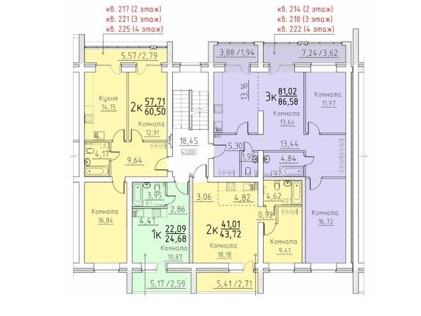 Подъезд 10. Планировка 2,3,4 этажа