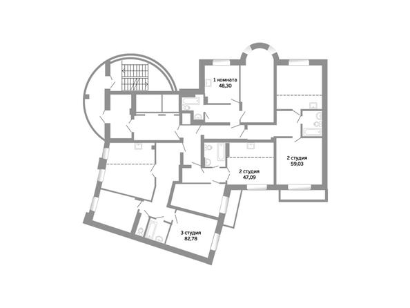 Блок-секция 16. Планировка 3-4 этажей