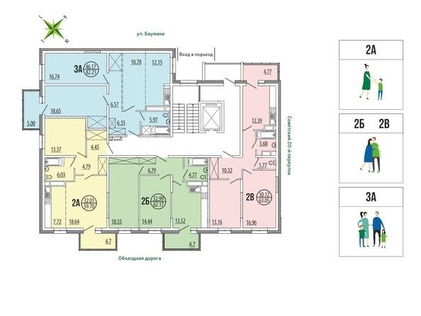 Блок-секция 4-17. Планировка типового этажа