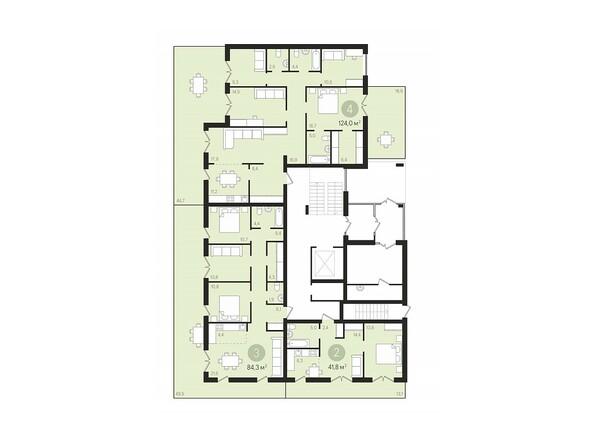 Планировки Жилой комплекс ДУНАЕВСКИЙ, дом 3 - Подъезд 1. Планировка 1 этажа