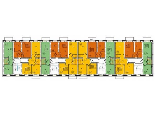 Блок 5. Планировка 2-5 этажей