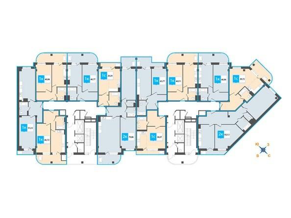 Планировка 13-19 этажей
