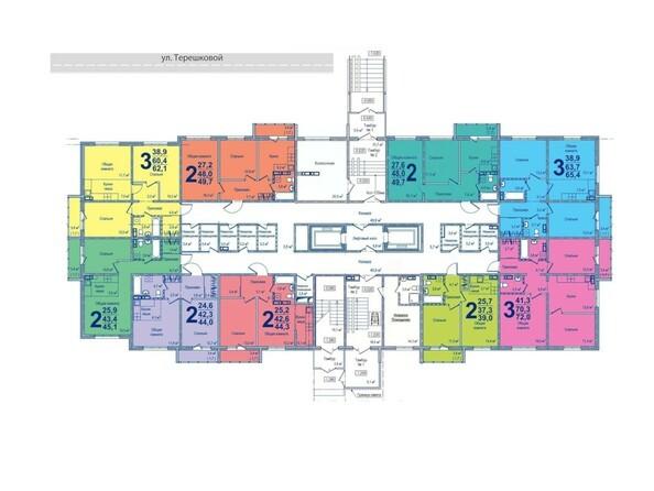 Планировки Жилой комплекс МОСКОВСКИЙ ПРОСПЕКТ, дом 16 - Планировка 1 этажа