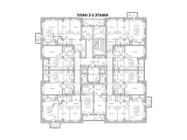 Планировка 3-5 этажей