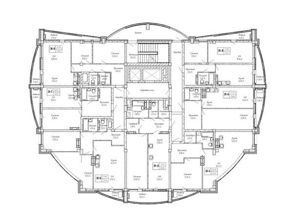 Планировки Жилой комплекс ДОМ НА СИБИРСКОЙ - Планировка 14 этажа