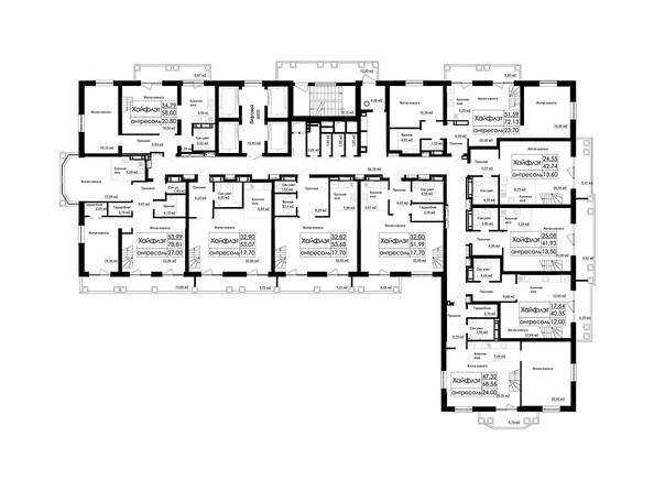 Планировки Жилой комплекс ДОМ НА БЕРЕЗОВОЙ РОЩЕ - Планировка 26 этажа
